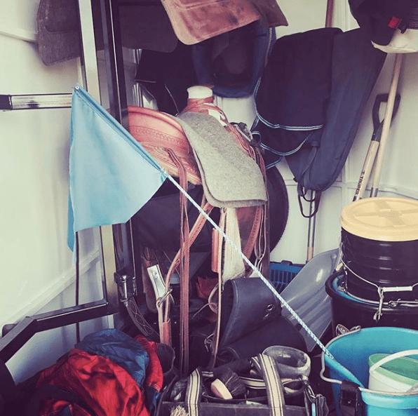 horse trailer tack room