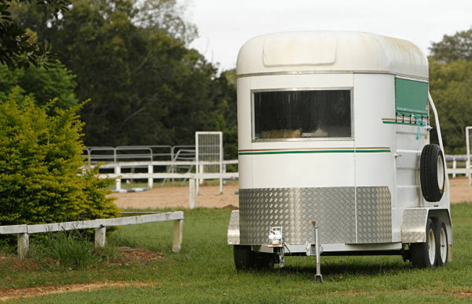horse trailer parked