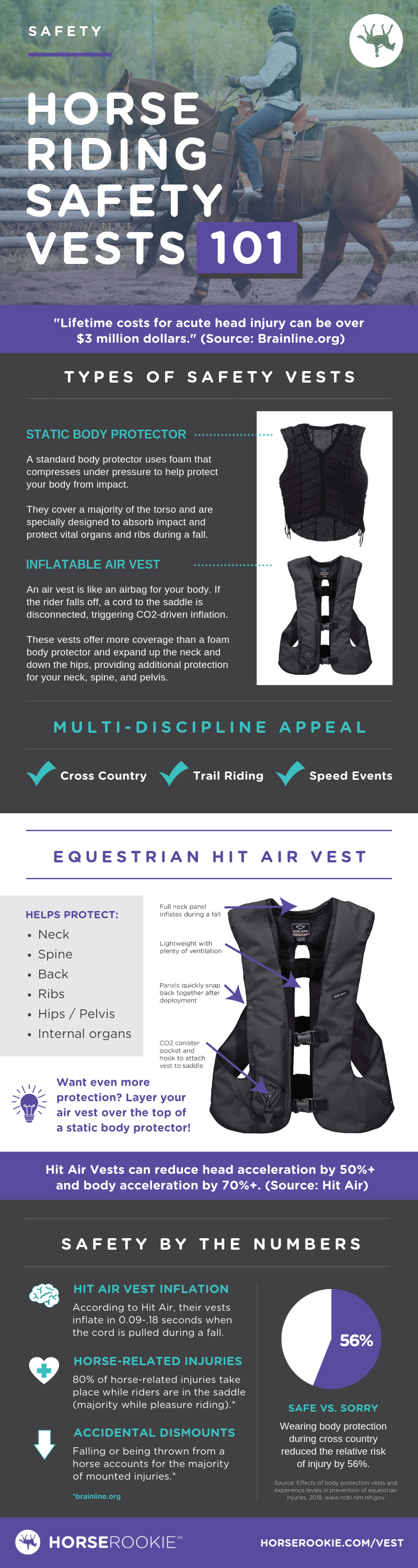 Horse Riding Safety Vest Infographic