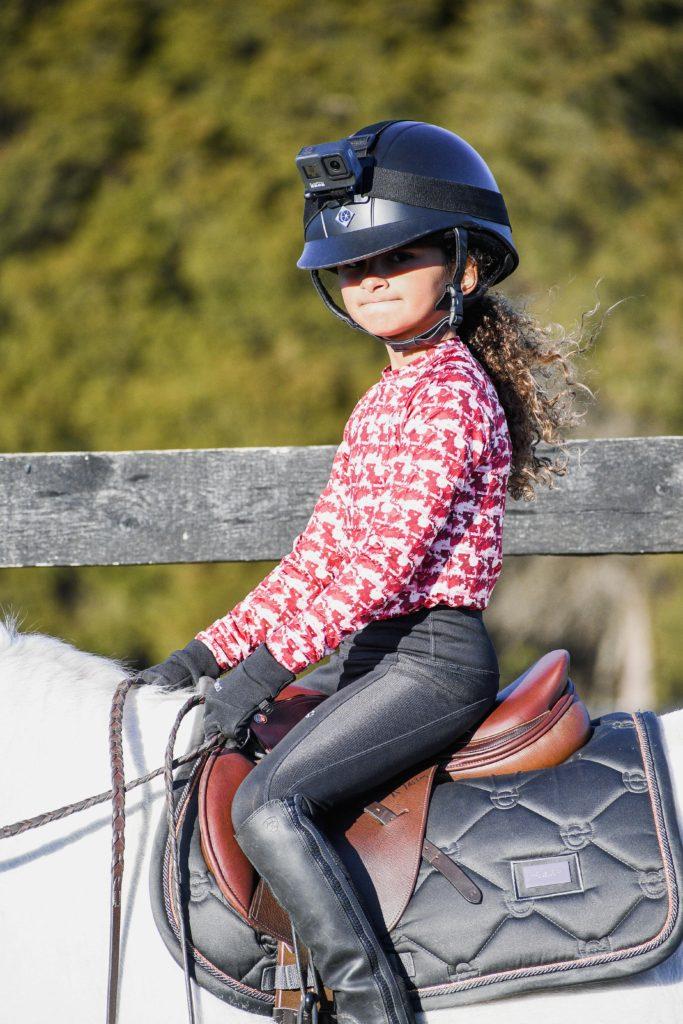 child horse gopro