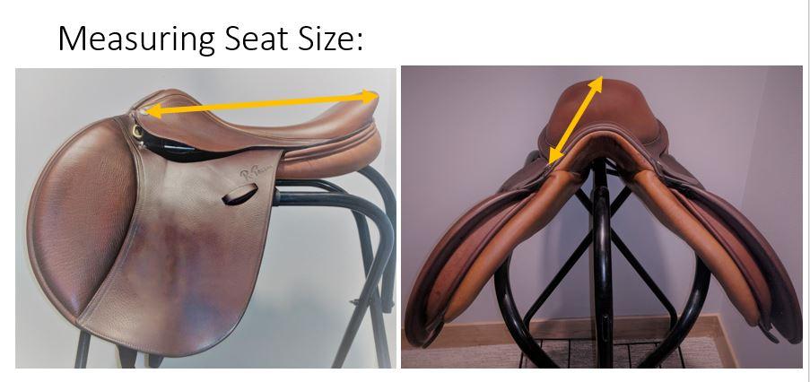 Measuring-saddle-seat-size