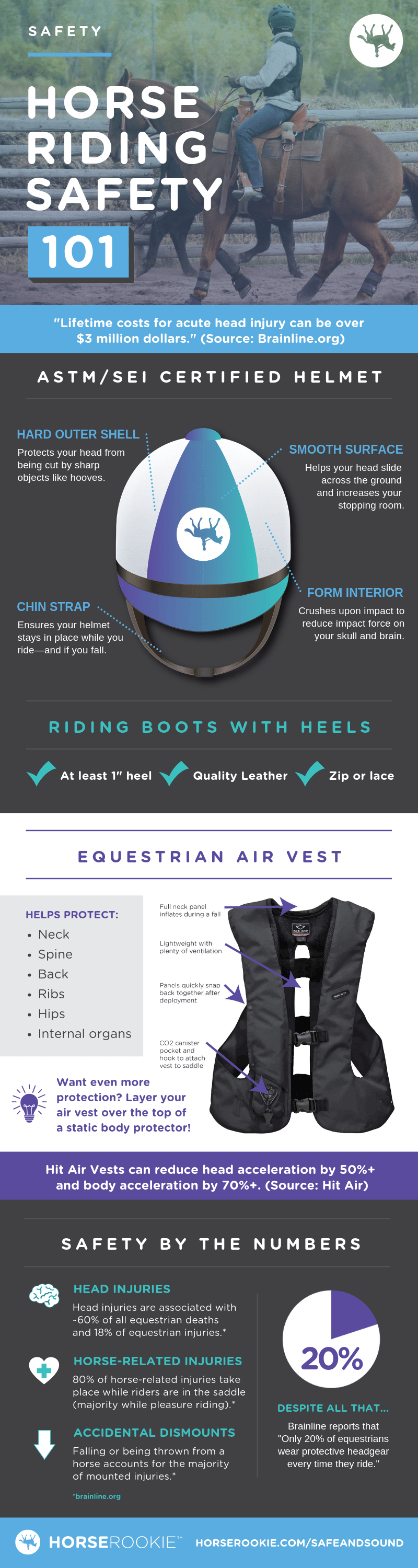 Horse Riding Safety Equipment Infographic