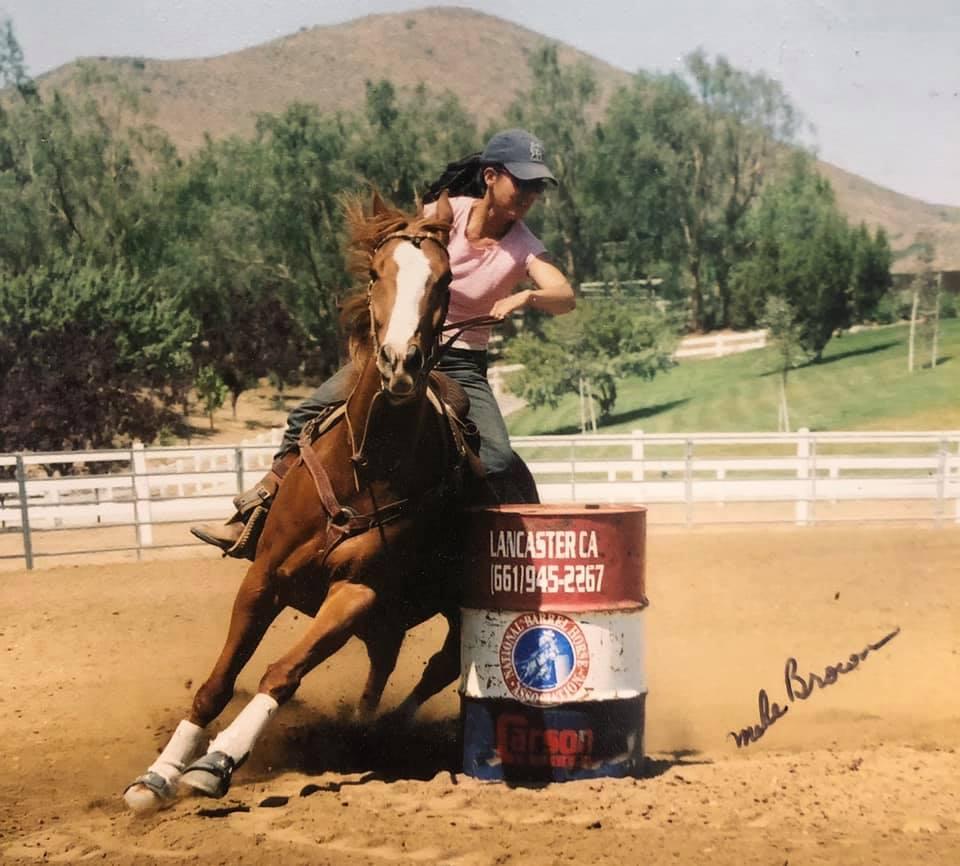 barrel racing red horse