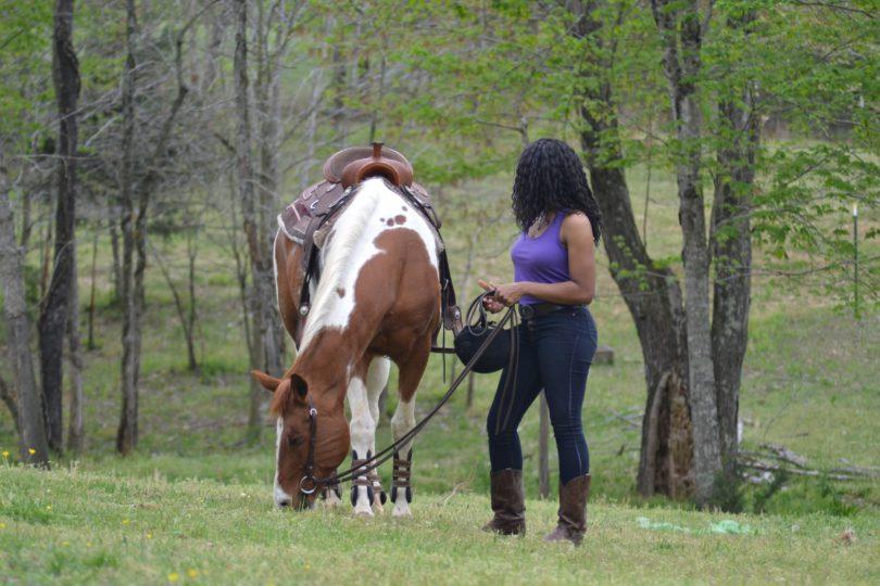 calm nerves horse riding