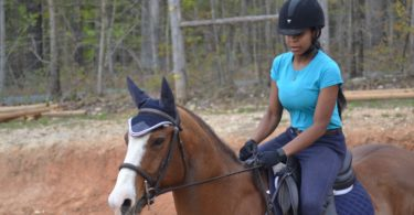 nervous horse rider