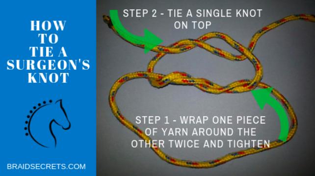 horse surgeon knot braid