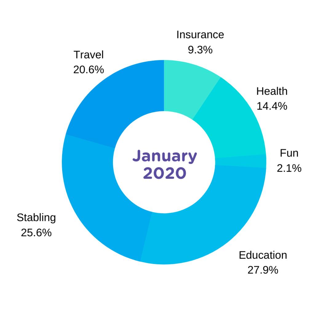 jan 2020 horse expense report