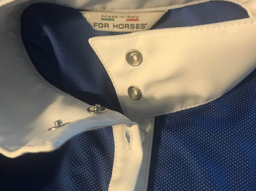 for horses show shirt buttoned collar