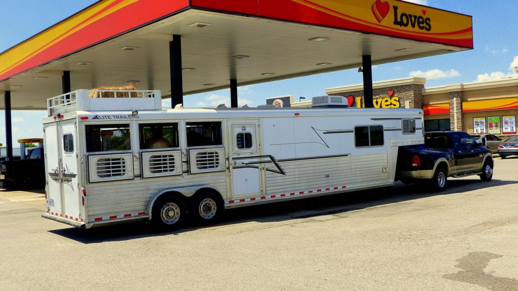 horse trailer gas station