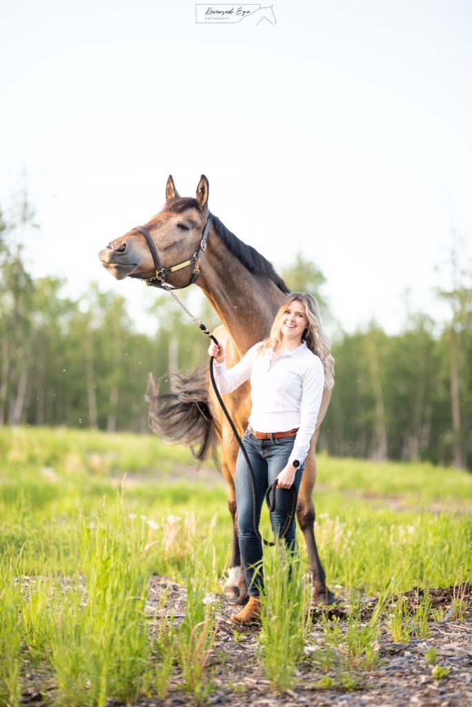 horse and girl photo shoot