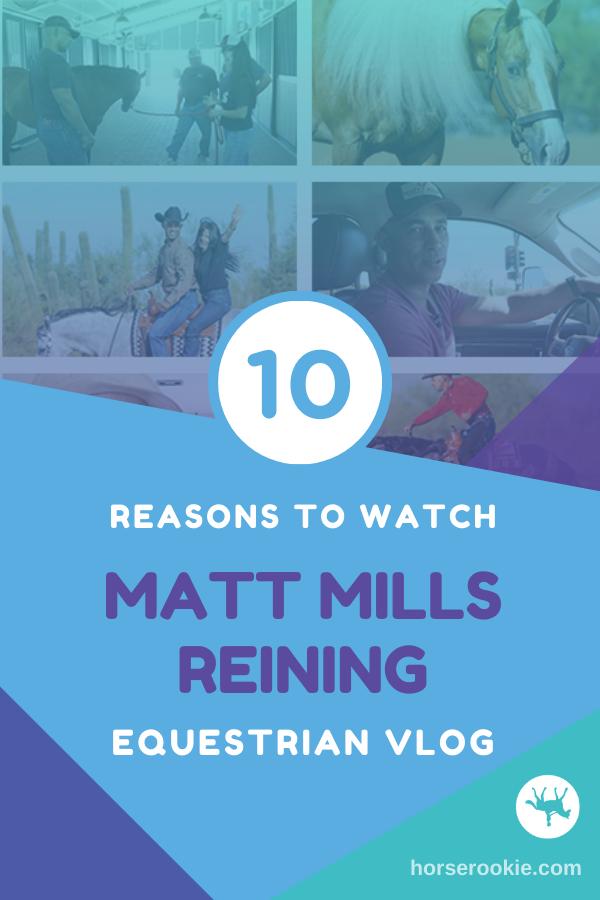 Matt Mills Reining Horse Vlog Pinterest