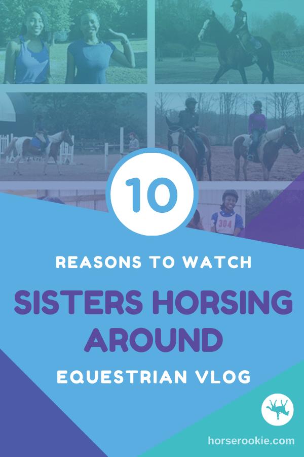 sisters horsing around vlog pin