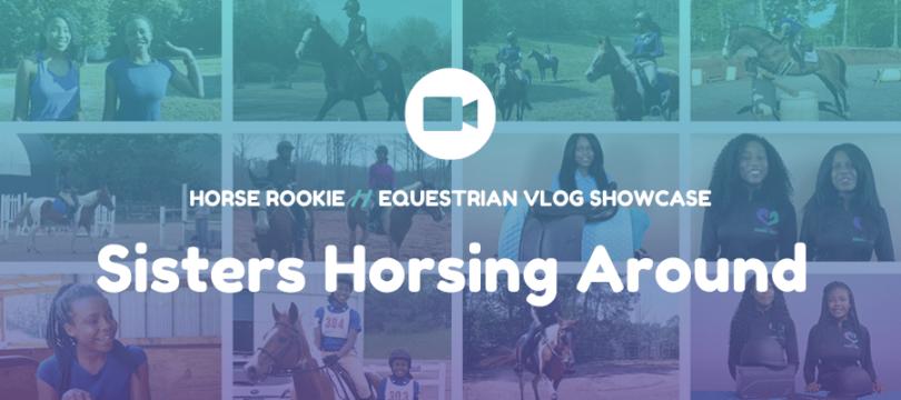 sisters horsing around vlog hero