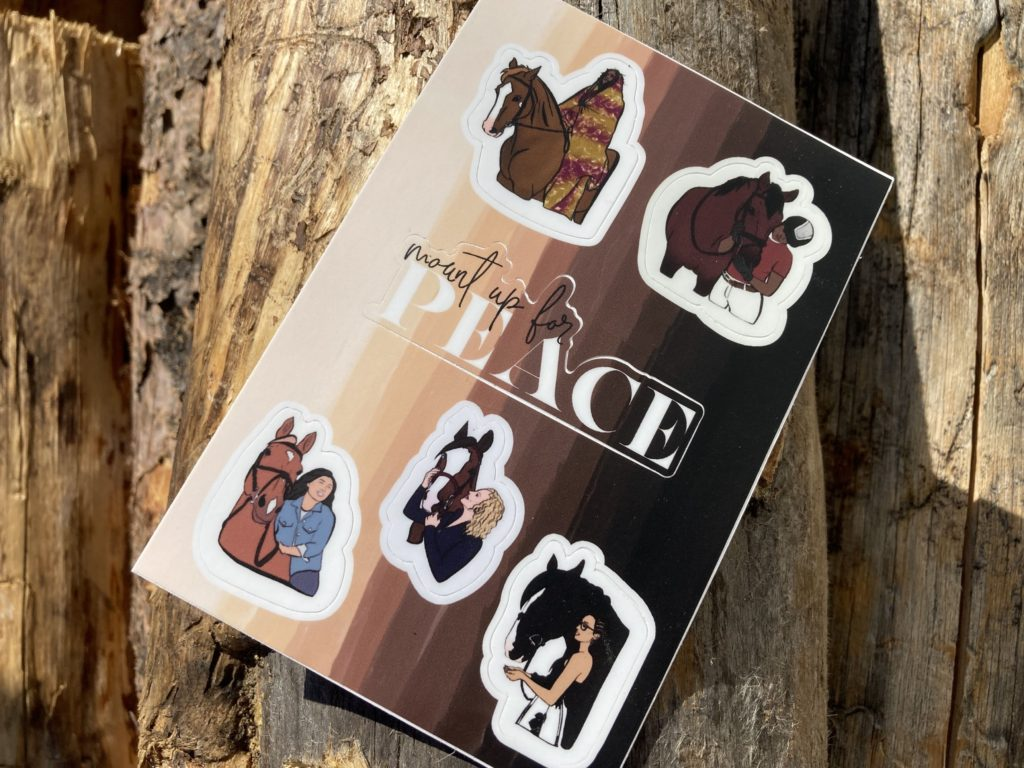 equestrian diversity stickers