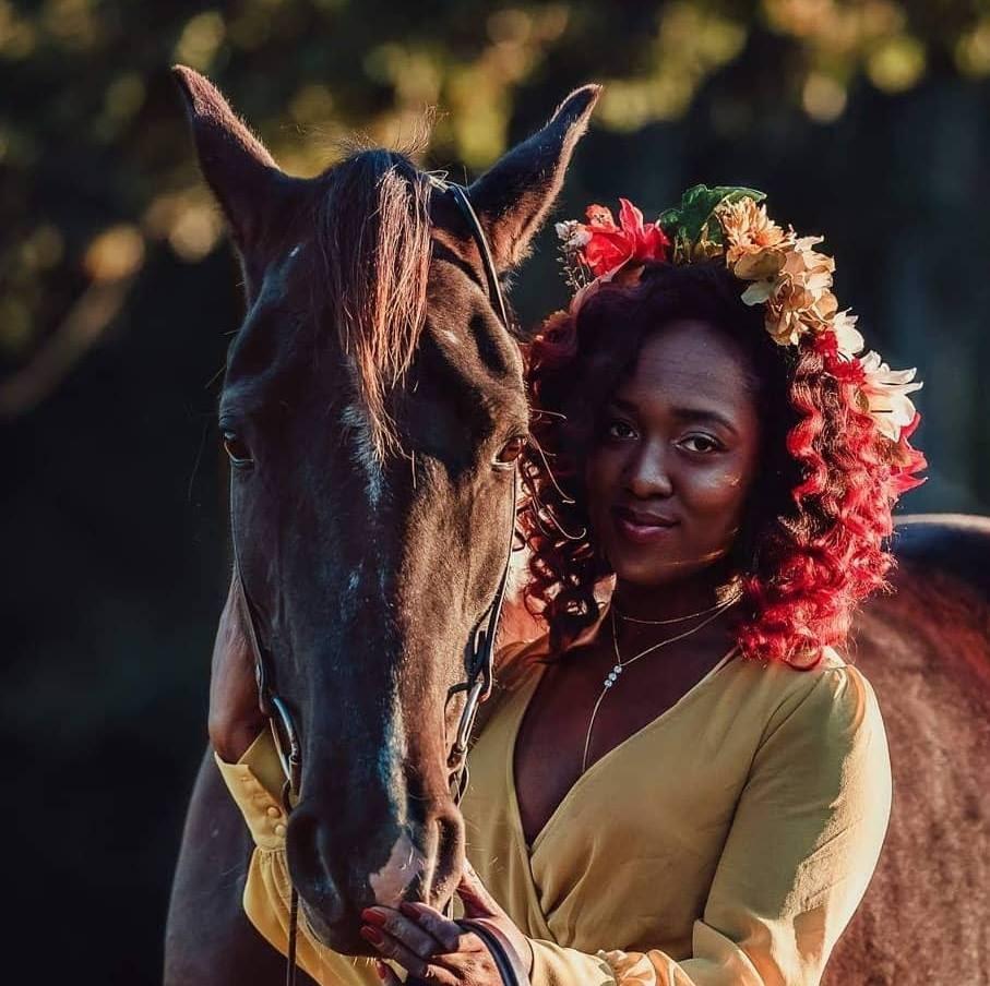 abriana johnson flowers horse