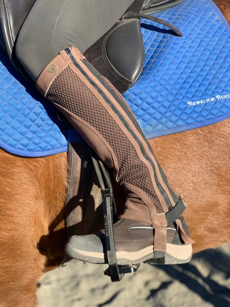 telluride boots with half chaps