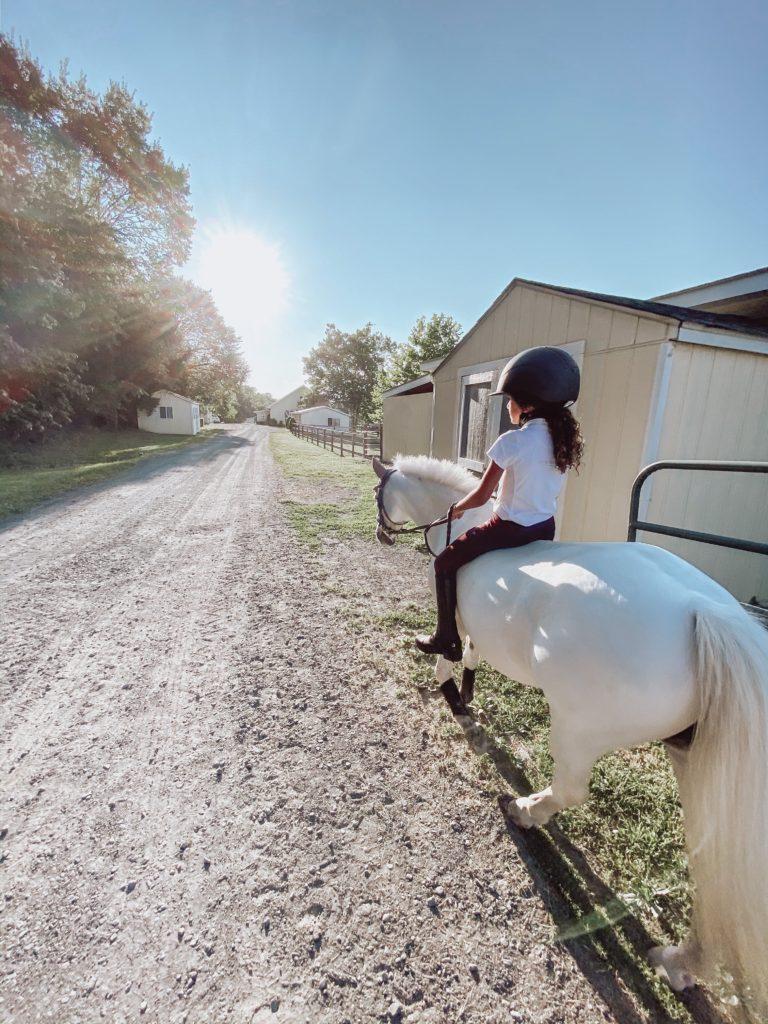 child trail riding
