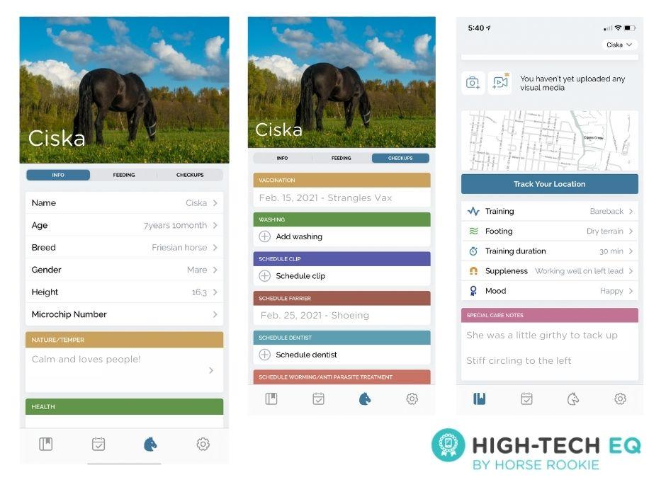 equus app screenshots