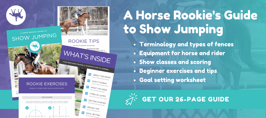 horse rookie's guide to show jumping