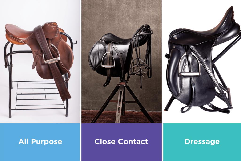 types of english saddles