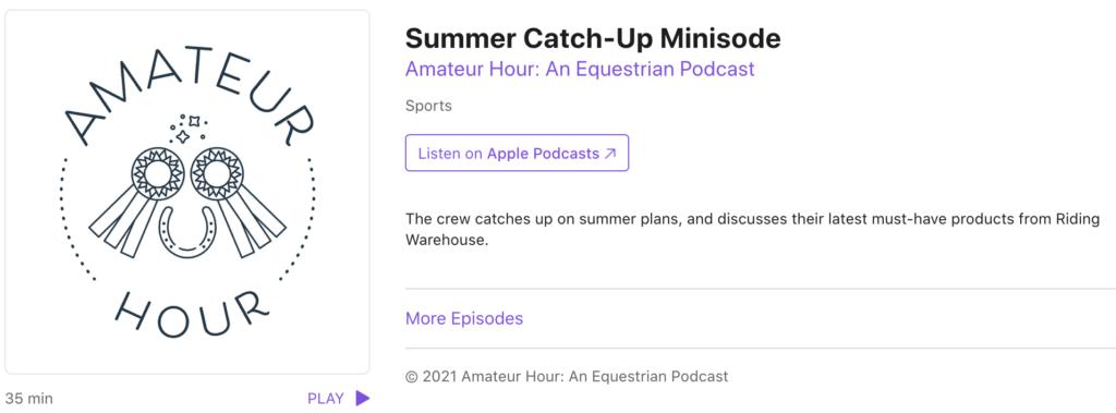 amateur hour podcast episode