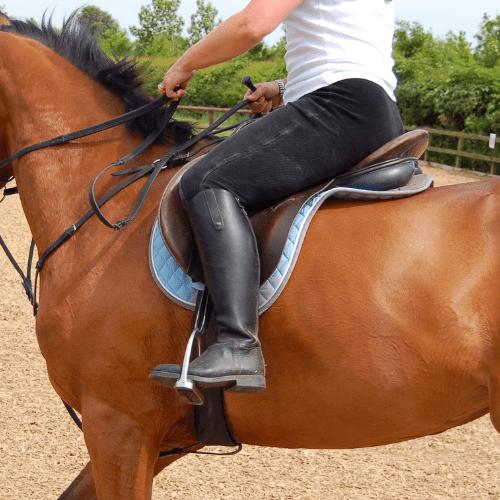 horse riding position