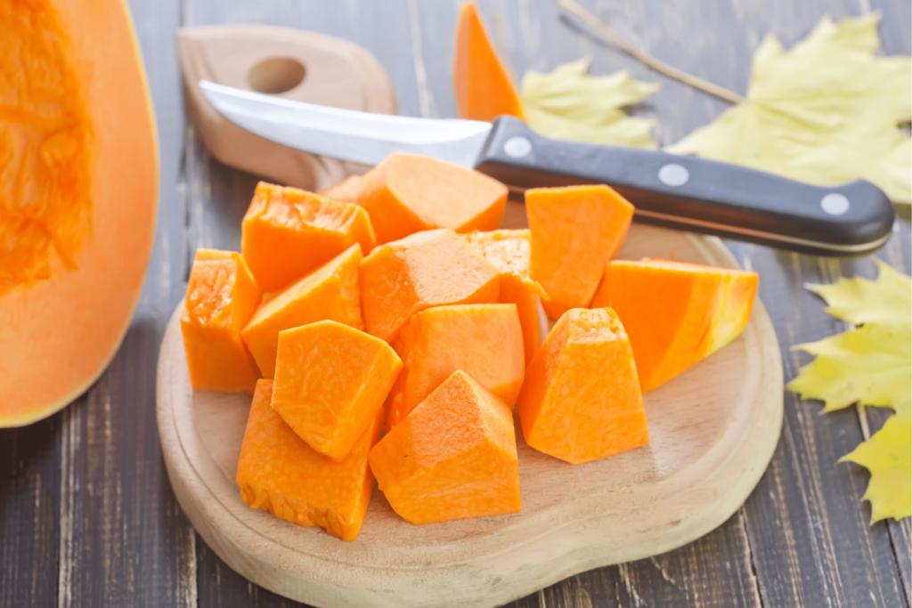 sliced pumpkins