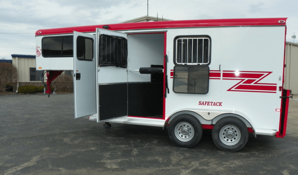 horse trailer from the side