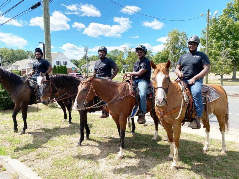 Ebony Horsewoman Mounted Patrol