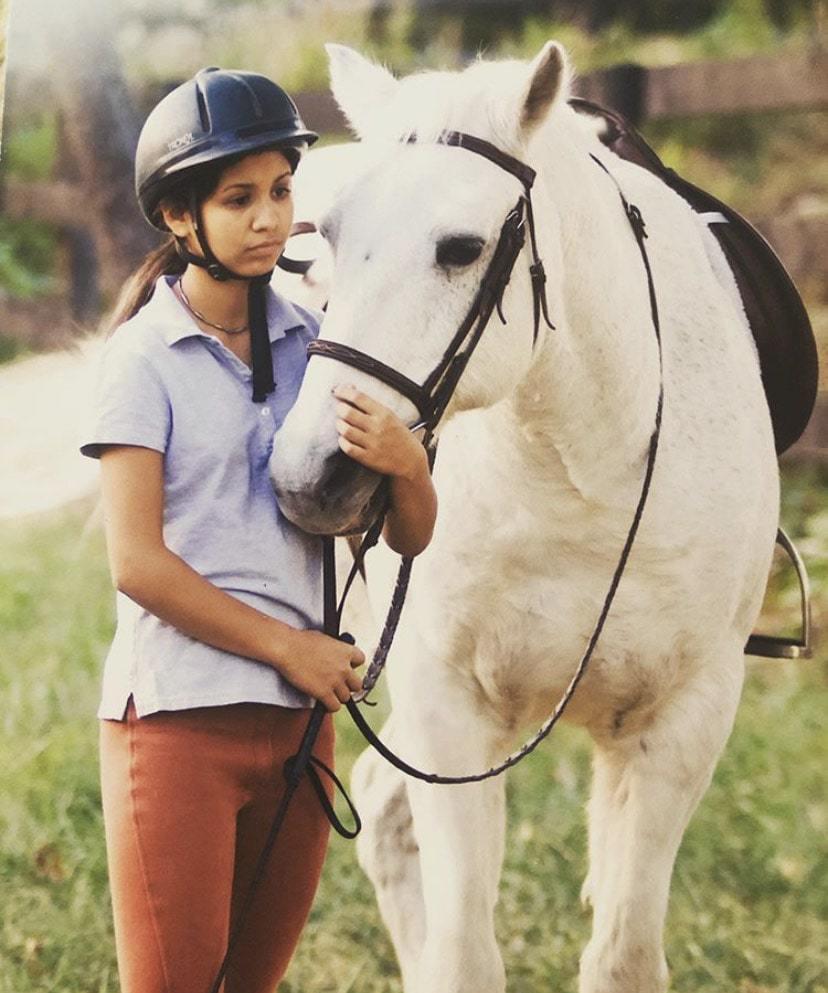 martha and white horse