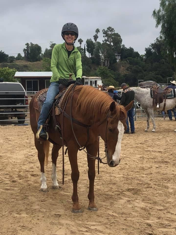adult woman horse