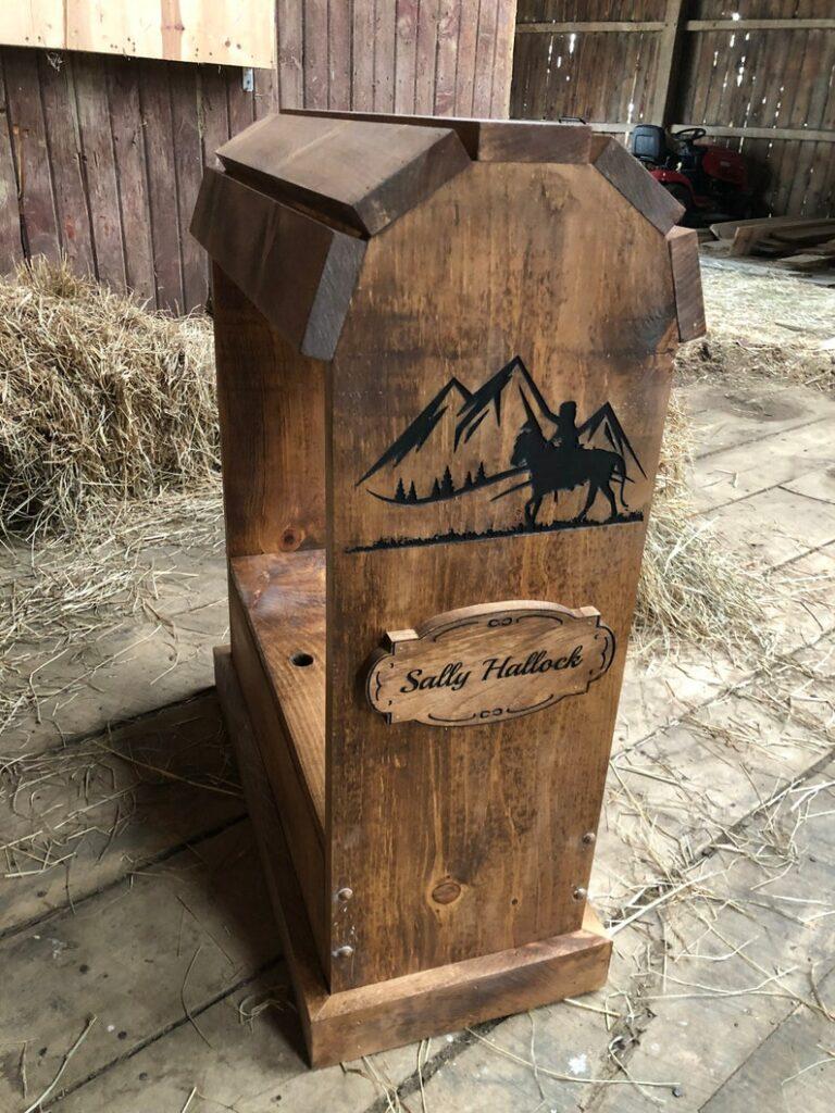 personalized saddle rack