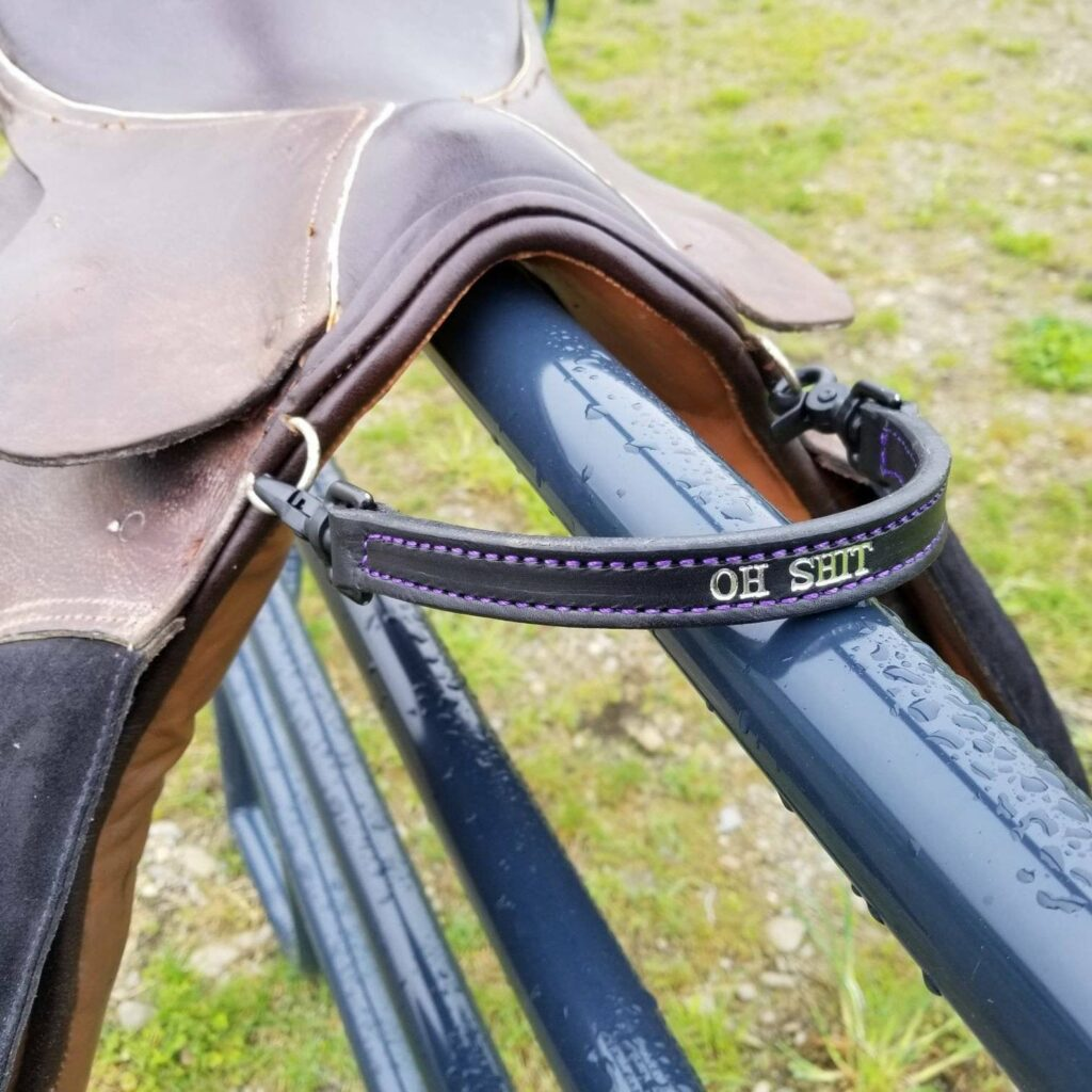 personalized saddle strap