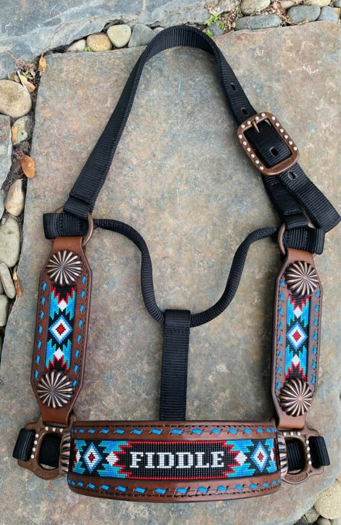personalized horse halter